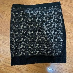 Dots lace skirt